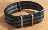 seat belt grau schwarz gestreift 20mm 7555