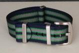 seat belt  navy grau innen dünn grün 20 mm 8026