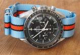 hellblau orange gestreift 22mm.  8286