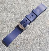 Rubber strap zweiteilig Navy 22 mm