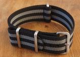grau schwarz gestreift 20mm 7357
