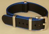 seat belt  schwarz aussen dünn blau 20 mm 8019