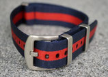 navy  rot gestreift 20 mm 8361