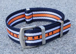 navy weiss orange gestreift 20 mm 8057