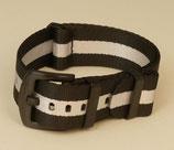 seat belt  schwarz weiss 20 mm 7807