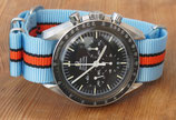 hellblau orange gestreift 7890