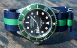 blau grün gestreift 7517 20mm