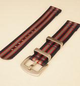 Split Strap / zweiteiliges  Armband 22mm navy rot grau