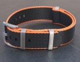 seat belt  schwarz aussen dünn orange 22mm 8811