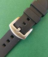 Rubber strap zweiteilig schwarz 22 mm 8583
