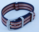 navy grau orange gestreift 20 mm 7715