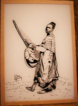 Dakar  Griot indigène avec sa guitare