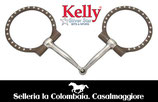 FILETTO WESTERN Kelly Silver Star Off-Set Dee w/ Dots Snaffle - 25215
