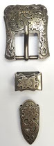 Antique Silver Cart Buckle