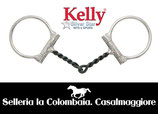 FILETTO WESTERN TORCIGLIONE Kelly Silver Star Twisted Wire Off-set Training Dee Ring - 255055