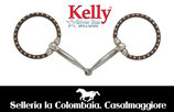 FILETTO WESTERN Kelly Silver Star Ring Snaffle w/Dots - 25218