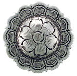 Conchos Antique Flower Silver