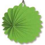 02 Фонарик зеленый круглый бумажный