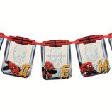 """Гирлянда с местом для фото """"С Днем Рождения"""", Человек-паук, дл. 200 см"""