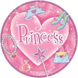 "Тарелки ""Принцессы-Сердце"" 18см 6шт"