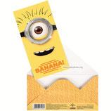 """Открытка-конверт для денег """"Миньоны Banana"""""""