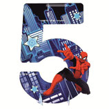 """01  Цифра для украшения праздника """"5"""", Человек паук"""