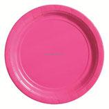 Тарелка цвет фуксия Bright Pink , 8 шт, 17 см