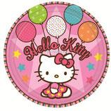 """Тарелки """"Hello Kitty"""" 17 см 8 шт"""