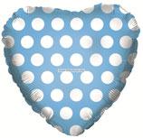 A 18 Сердце, В белый горошек, Голубой