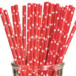 A1 Трубочки бумажные Звезды красные