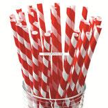 A0 Трубочки бумажные Полоски красные
