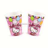 """Стаканы """"Hello Kitty"""" 270 мл 8 шт, бумажные Amscan"""