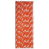 A1 Трубочки бумажные Горох оранжевые