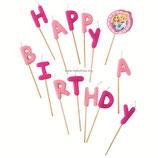 """AO1 Свечи в торт буквы """"Happy Birthday"""", Принцессы - Сказочный мир"""