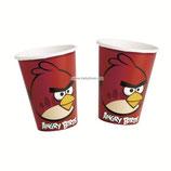"""Стаканы """"Angry Birds"""" 270 мл 8 шт, бумажные"""