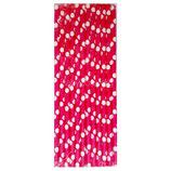 A1 Трубочки бумажные Горох розовые