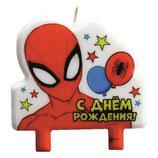 """AO2 Свеча в торт """"С днем рождения"""", Человек-паук"""