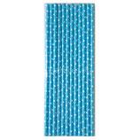 A0 Трубочки бумажные Горох мелкий, голубые