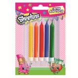 A03 Свечи Шопкинс, 5шт, разноцветные, 6,5см