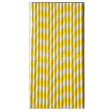 A2 Трубочки бумажные Полоски желтые 16шт.