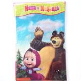 """Скатерть """"Маша и Медведь"""" 130х180 см"""