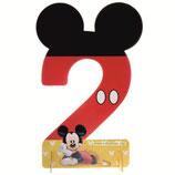 """01  Цифра для украшения праздника """"2"""", Микки Маус"""