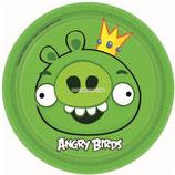 """Тарелки """"Angry Birds"""" 17 см 8 шт"""
