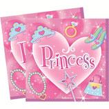 "Салфетки ""Принцессы-Сердце"", 20шт."