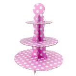 A0 Стойка для кексов Горох розовый