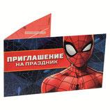 """Приглашения """"Человек паук"""", 5 шт."""