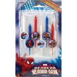 A0 Свечи для торта Marvel Человек Паук 6шт