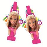 Гудок-язычок Барби 8шт Amscan