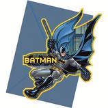 """Приглашения в конвертах """"Бэтмен"""" 6шт"""