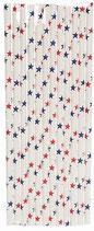 A1 Трубочки бумажные Звезды синие и красные